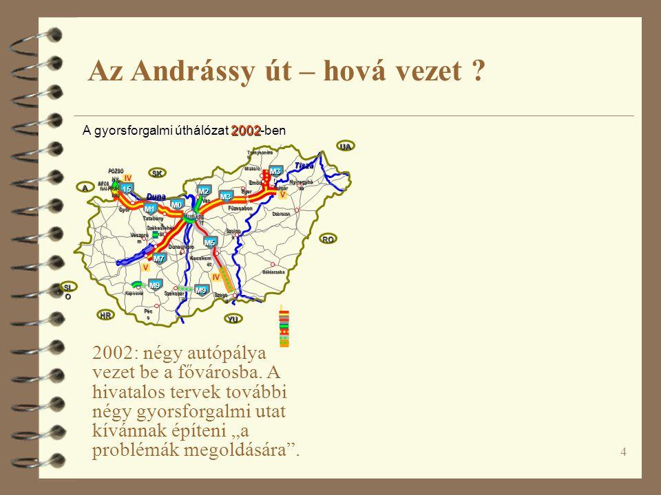 5 2002: négy autópálya vezet be a fővárosba.