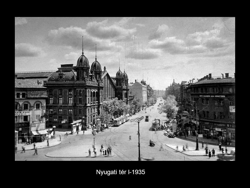 Pasarét az 5-ös busz végállomása és még a forditott forgalmi sáv. -1933