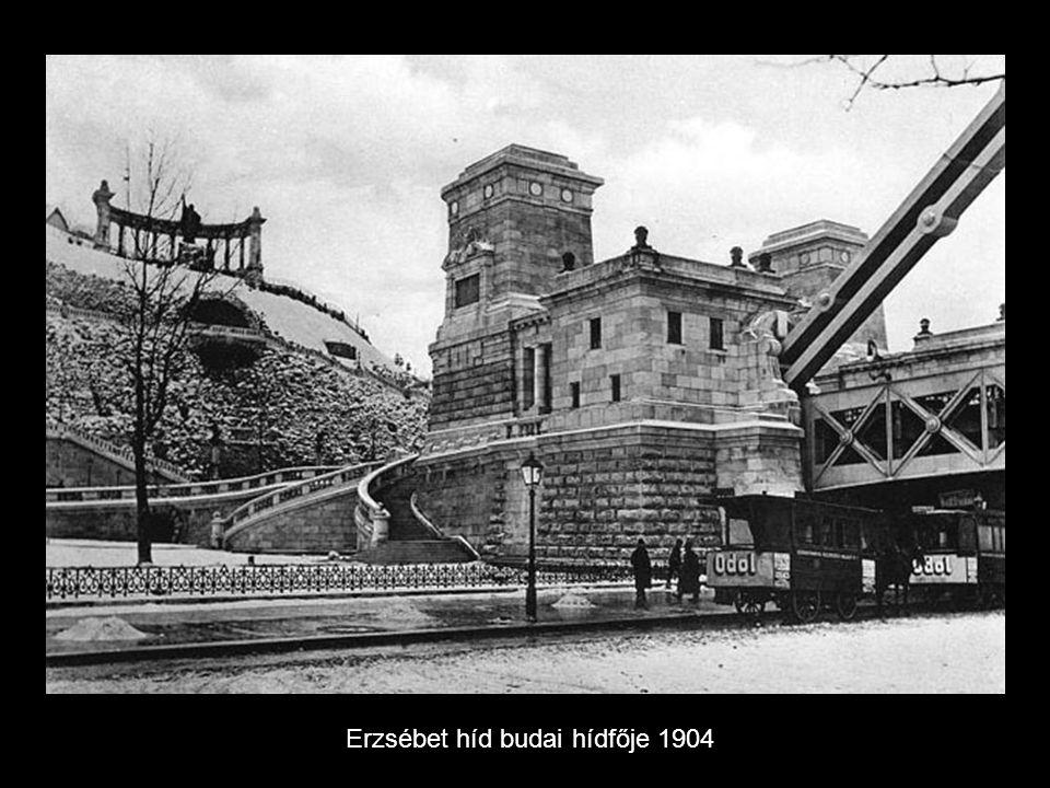 Erzsébet híd Budáról 1904
