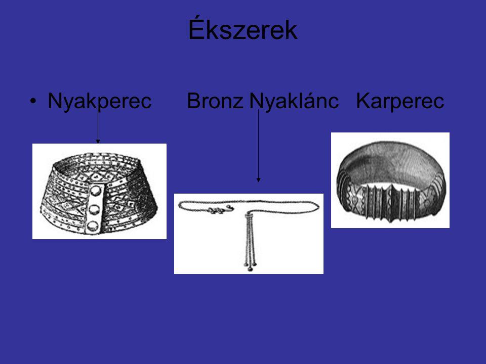 Ékszerek •Nyakperec Bronz Nyaklánc Karperec