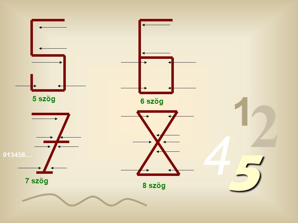 013456… 1 2 4 5 1 szög 2 s zög 3 s zög 4 s zög