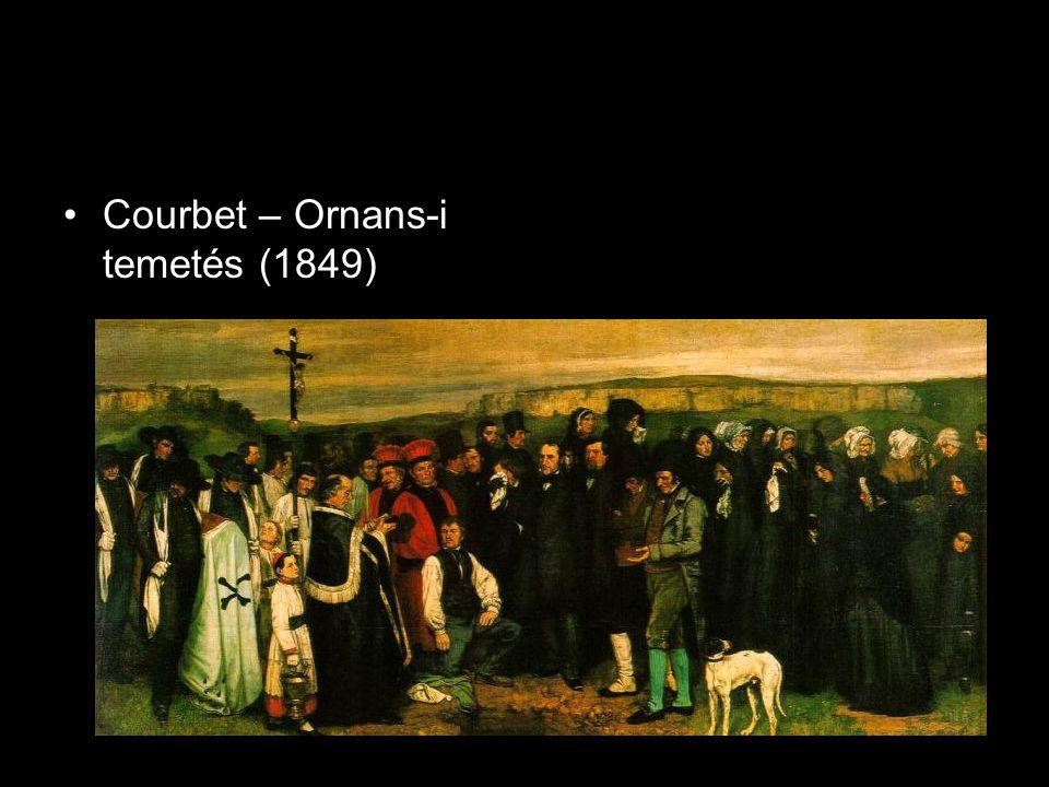 •Courbet – Ornans-i temetés (1849)
