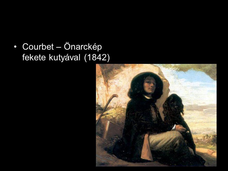 •Courbet – Önarckép fekete kutyával (1842)