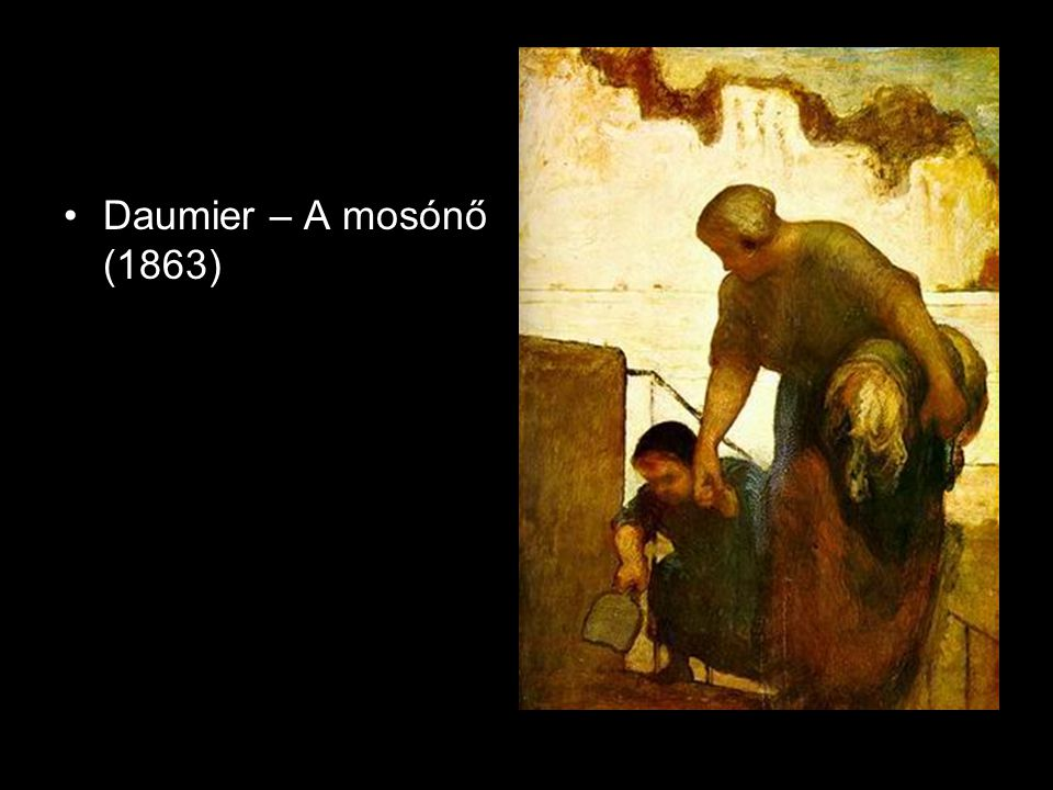 •Daumier – A mosónő (1863)