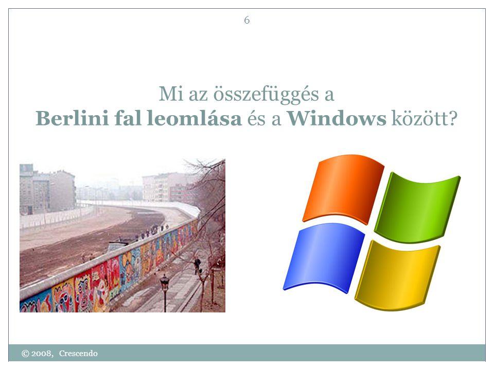 6 Mi az összefüggés a Berlini fal leomlása és a Windows között?
