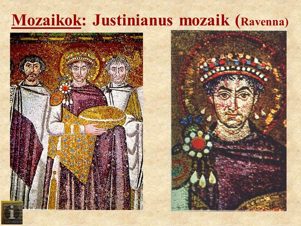 Mozaikok: Justinianus mozaik ( Ravenna)