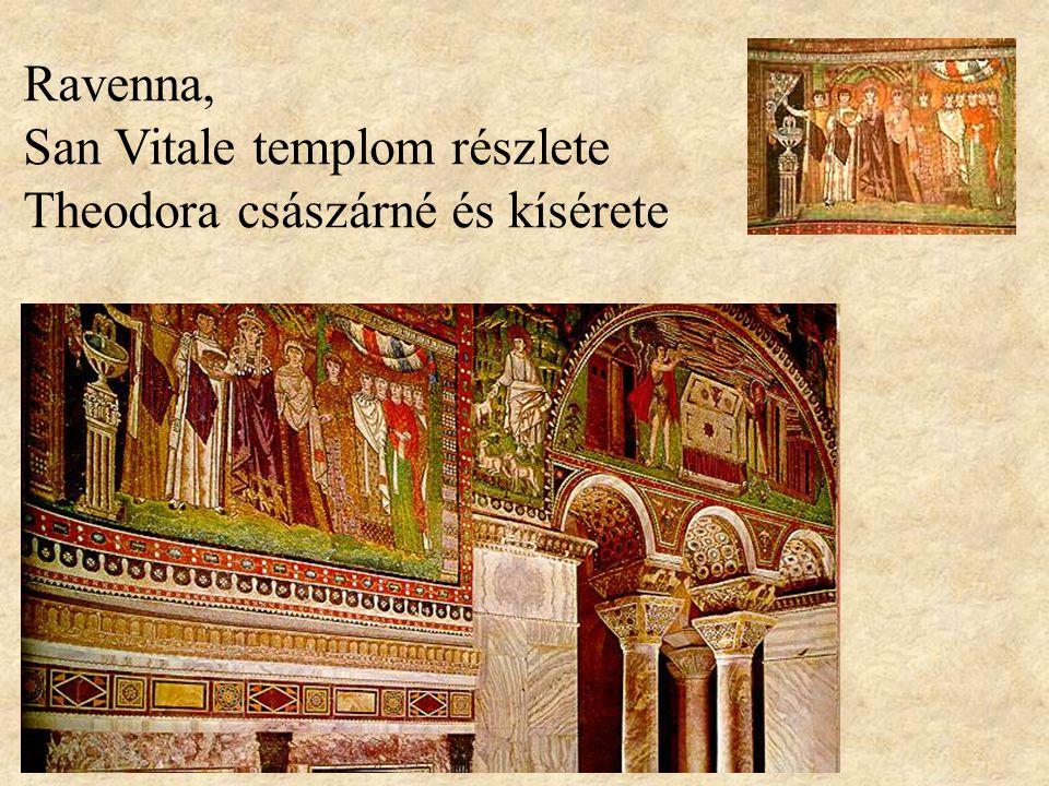 Ravenna, San Vitale templom részlete Theodora császárné és kísérete