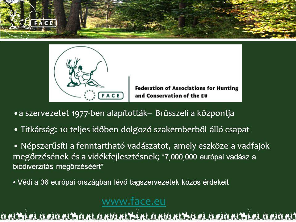 •a szervezetet 1977-ben alapították– Brüsszeli a központja • Titkárság: 10 teljes időben dolgozó szakemberből álló csapat • Népszerűsíti a fenntarthat