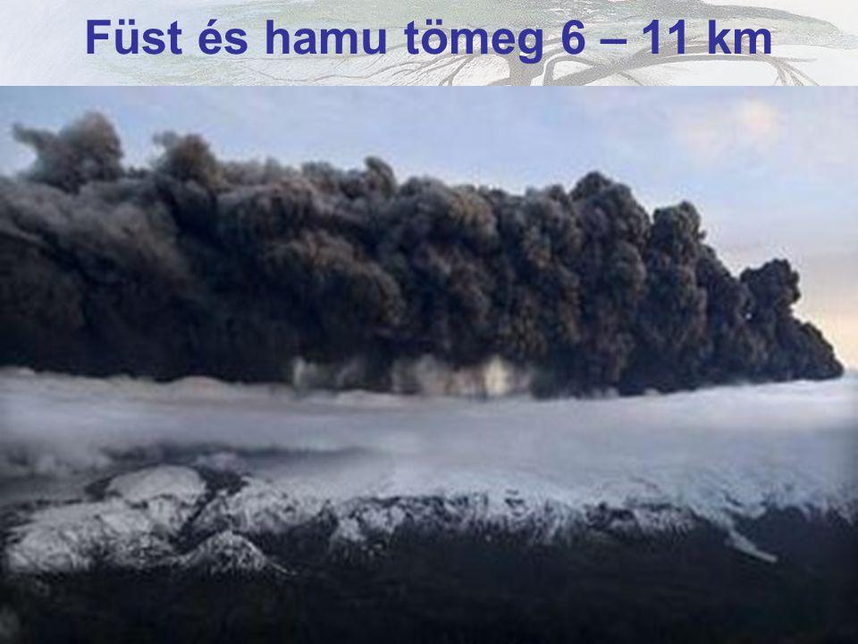 Kráterből kiáramló füstoszlop