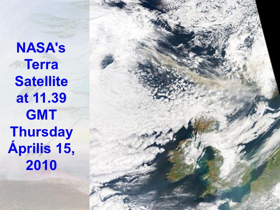 Satellite fotó Izlandtól Európa felé