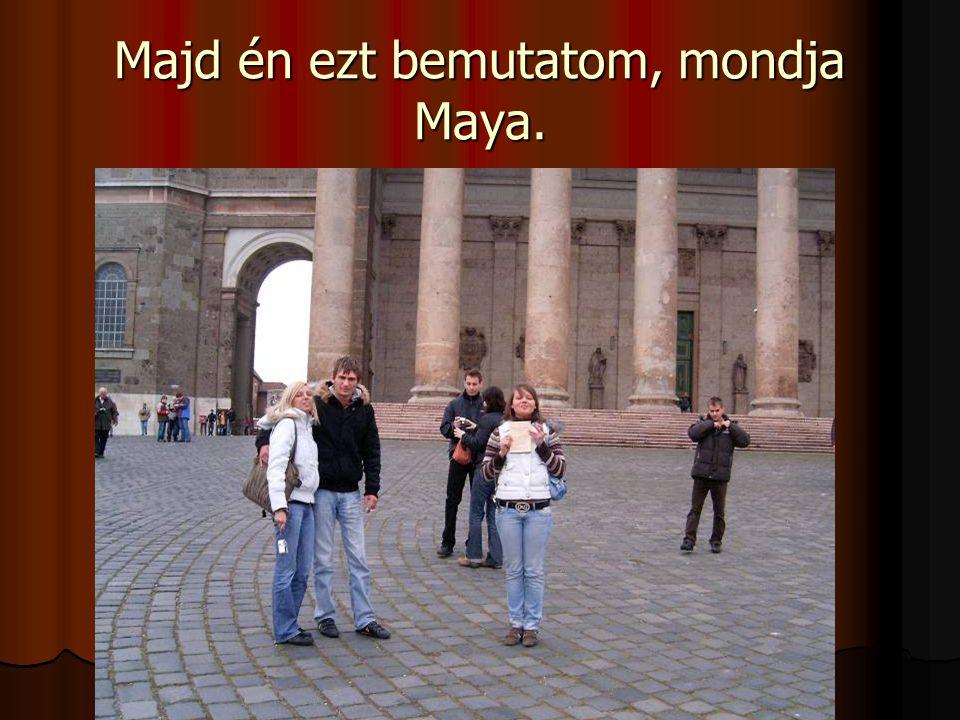 Majd én ezt bemutatom, mondja Maya.
