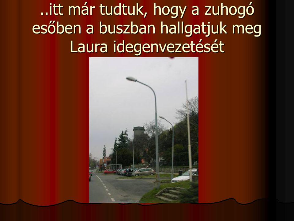 ..itt már tudtuk, hogy a zuhogó esőben a buszban hallgatjuk meg Laura idegenvezetését