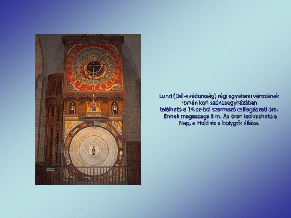 Csillagászati óra A strasbourgi katedrálisnak világhírű nevezetessége a csillagászati óra. Az óriási óraműről sok könyvet írtak. A város püspöke 1352-
