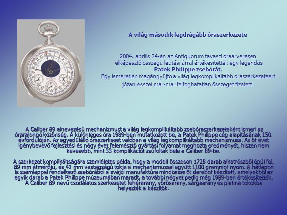A Caliber 89 elnevezésű mechanizmust a világ legkomplikáltabb zsebóraszerkezeteként ismeri az órarajongó közönség.