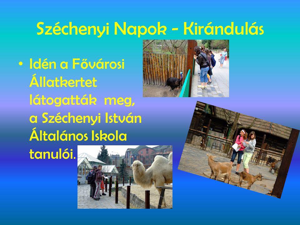 Széchenyi Napok - Kirándulás • Idén a F ő városi Állatkertet látogatták meg, a Széchenyi István Általános Iskola tanulói.