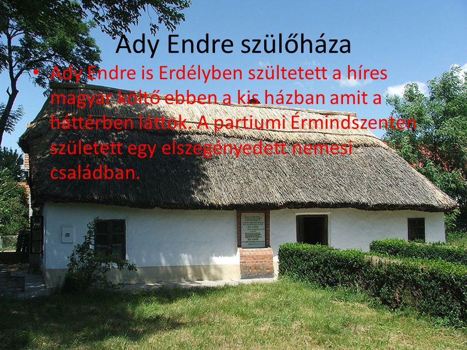 Ady Endre szülőháza • Ady Endre is Erdélyben szültetett a híres magyar költő ebben a kis házban amit a háttérben láttok. A partiumi Érmindszenten szül