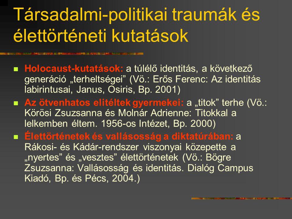 Képviselői önéletrajzok (Kovács Éva kutatásai)  Akik dicsekedhettek volna ellenzéki múltjukkal: nem tették  A nem-ellenzékiek viszont igyekeztek ell