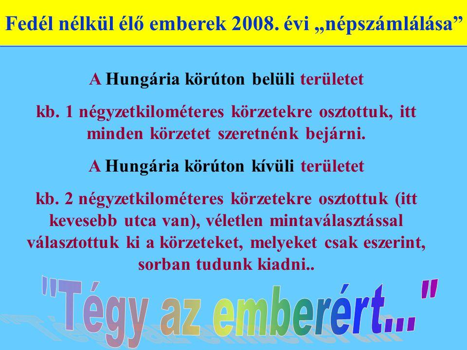 A Hungária körúton belüli területet kb. 1 négyzetkilométeres körzetekre osztottuk, itt minden körzetet szeretnénk bejárni. A Hungária körúton kívüli t