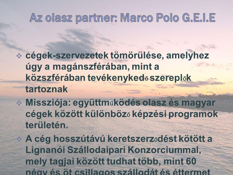  cégek-szervezetek tömörülése, amelyhez úgy a magánszférában, mint a közszférában tevékenyked ő szerepl ő k tartoznak  Missziója: együttm ű ködés olasz és magyar cégek között különböz ő képzési programok területén.