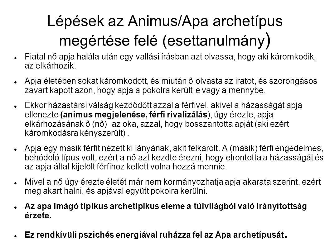 Lépések az Animus/Apa archetípus megértése felé (esettanulmány )  Fiatal nő apja halála után egy vallási írásban azt olvassa, hogy aki káromkodik, az