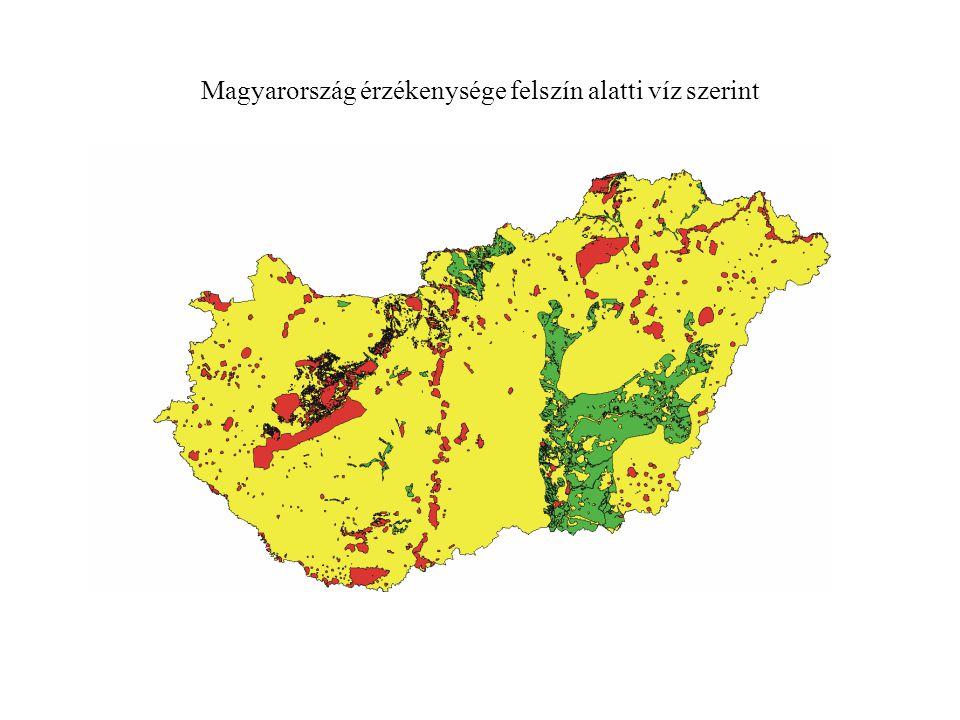 Magyarország érzékenysége felszín alatti víz szerint