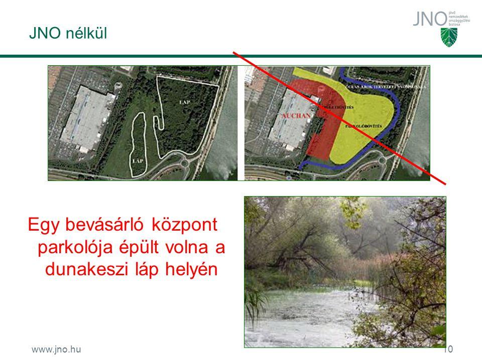 www.jno.hu10 JNO nélkül Egy bevásárló központ parkolója épült volna a dunakeszi láp helyén