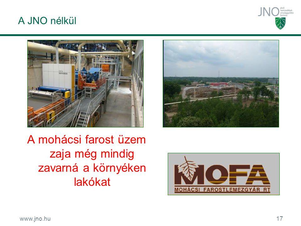 www.jno.hu17 A JNO nélkül A mohácsi farost üzem zaja még mindig zavarná a környéken lakókat