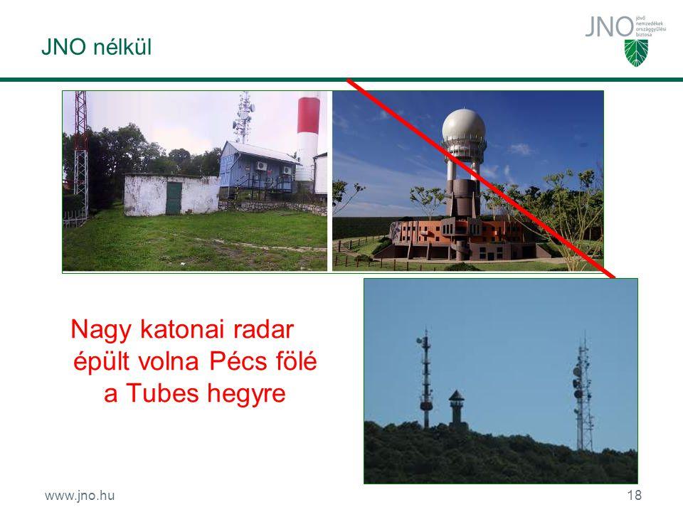 www.jno.hu18 JNO nélkül Nagy katonai radar épült volna Pécs fölé a Tubes hegyre
