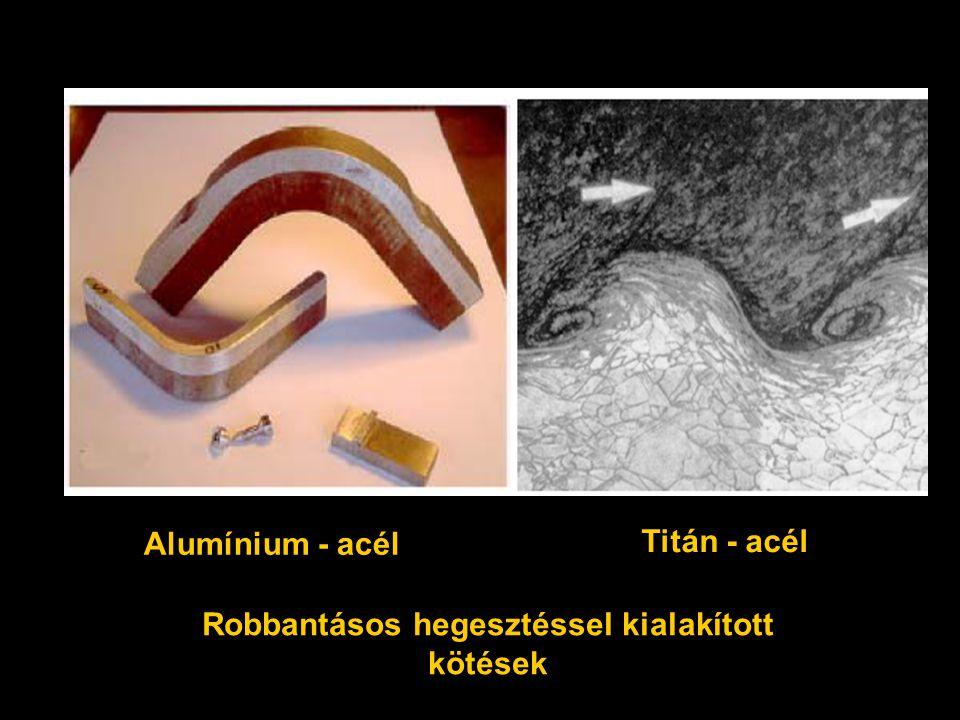 Robbantásos hegesztéssel kialakított kötések Alumínium - acél Titán - acél