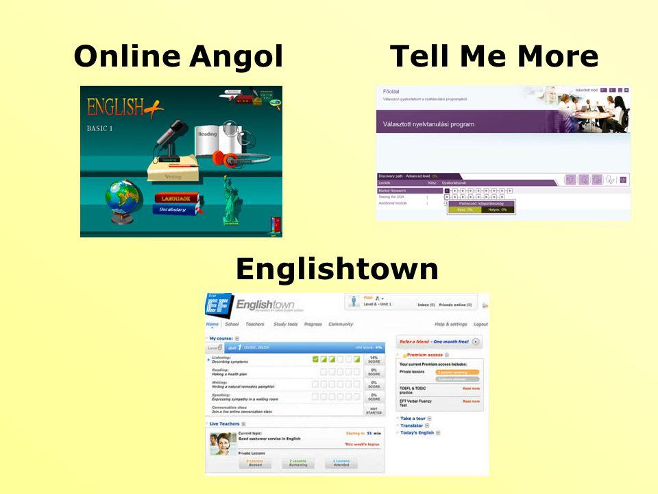 Online AngolTell Me More Englishtown