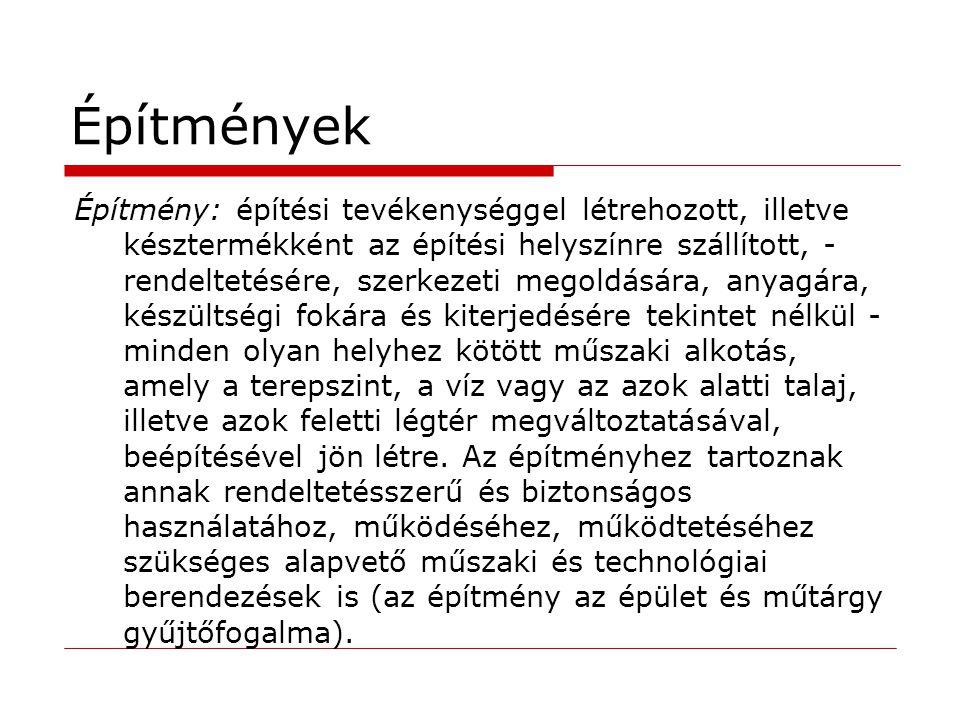 Építészeti-műszaki tervezés és szakértés feltételei (383, 421).