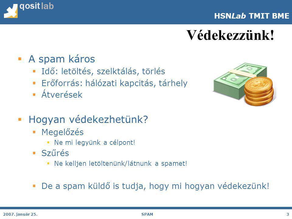 HSNLab TMIT BME Spam nélkül.2007.