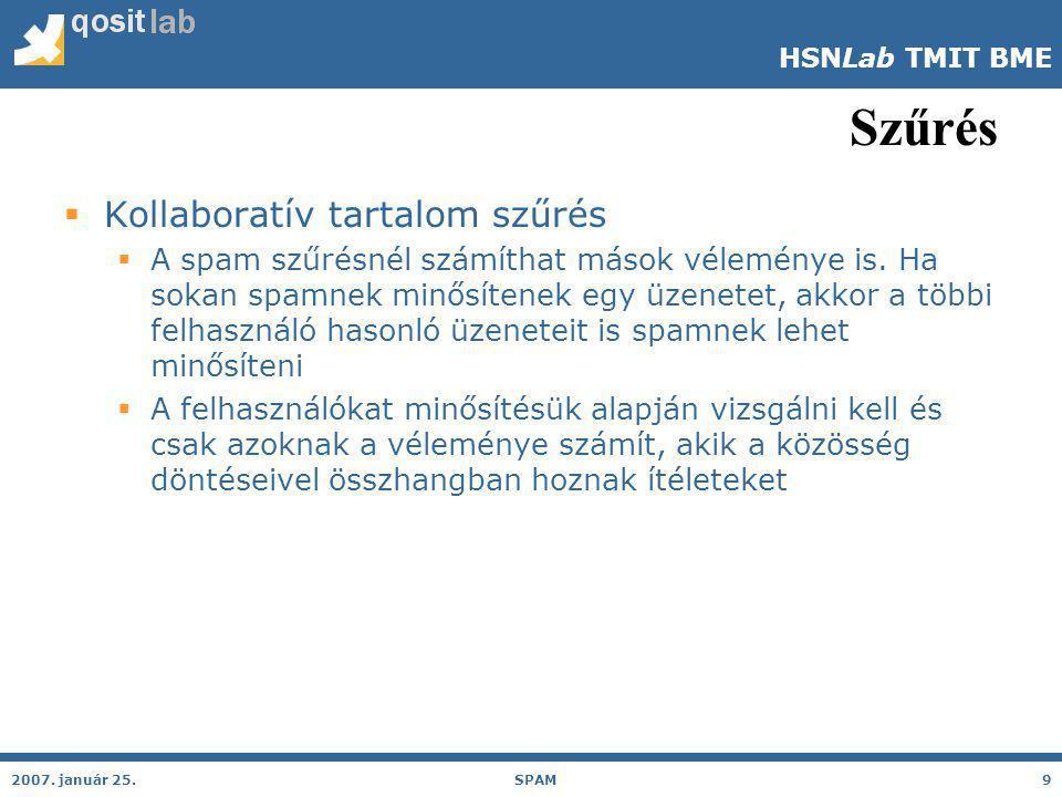 HSNLab TMIT BME 2006 év spam specialitásai 2007.