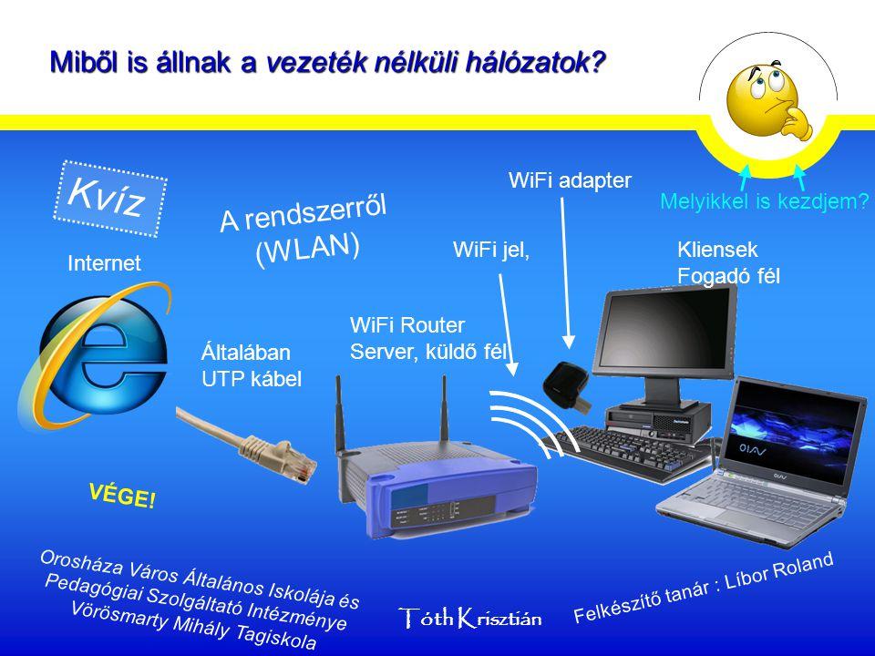 """UTP kábel Csavart érpárKülső Köpeny Bár a neve """"vezeték nélküli hálózat , egy vezeték kell a WiFi Router-be juttatni az információt."""