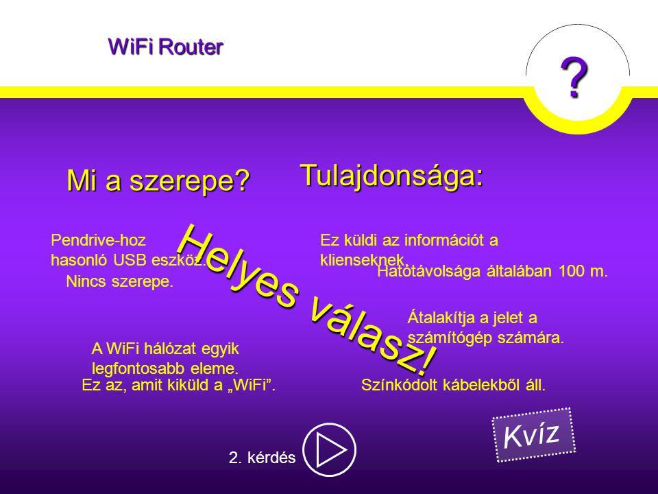 """? WiFi Router Nincs szerepe. Ez az, amit kiküld a """"WiFi"""". Átalakítja a jelet a számítógép számára. Mi a szerepe? Ez küldi az információt a klienseknek"""