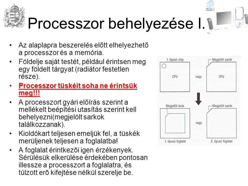Processzor behelyezése I.•Az alaplapra beszerelés előtt elhelyezhető a processzor és a memória.