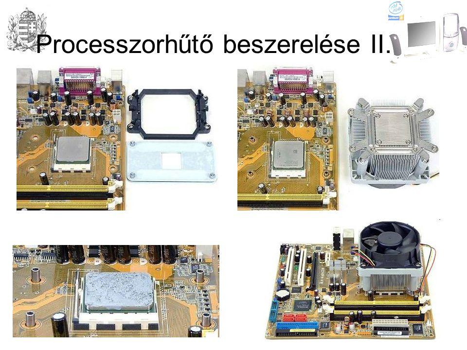 Processzorhűtő beszerelése II.
