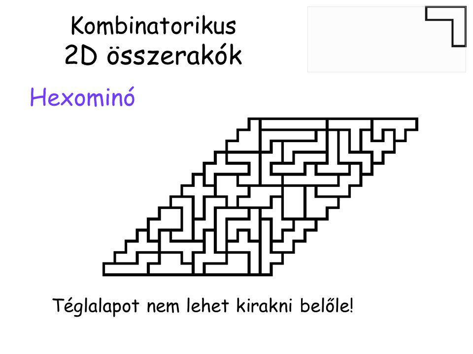 Hexominó Kombinatorikus 2D összerakók Téglalapot nem lehet kirakni belőle!