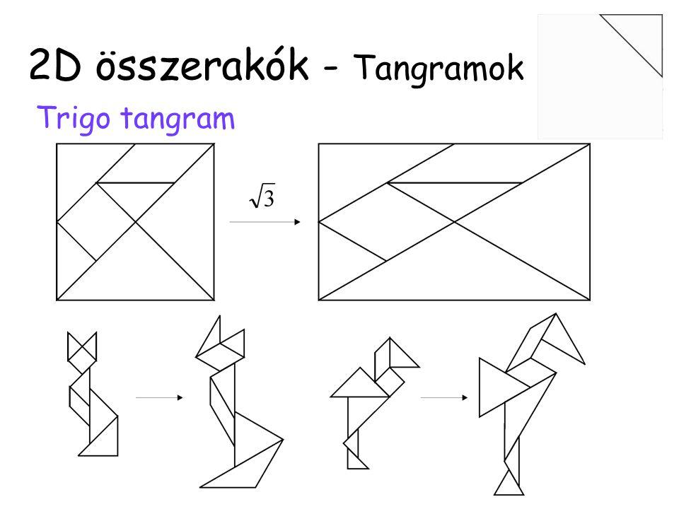 Hexominó Kombinatorikus 2D összerakók 35 elem, ebből 20 szimmetria nélkül