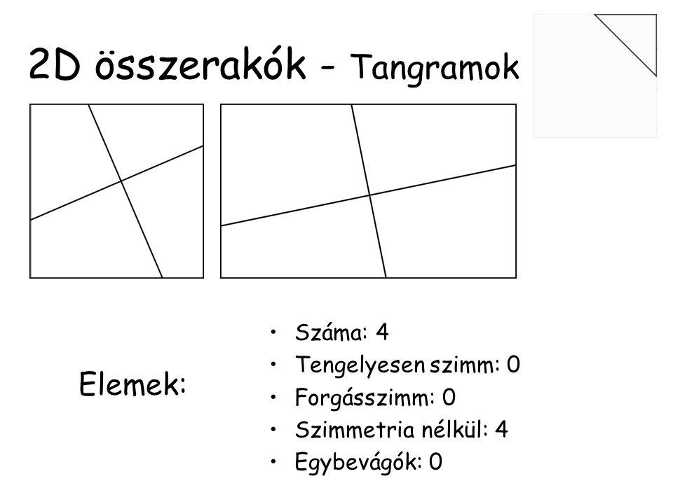 6 elemű rabkeresztek •Legnehezebb tömör •Szimmetrikus elemek: 0 •Egyforma elemek: 0 •1-es fokozat •3-as típus •Egy elem kicserélésével egy másik hasonlóan nehezet kapunk