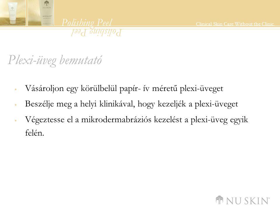 Polishing Peel Clinical Skin Care Without the Clinic. Polishing Peel Plexi-üveg bemutató  Vásároljon egy körülbelül papír- ív méretű plexi-üveget  B