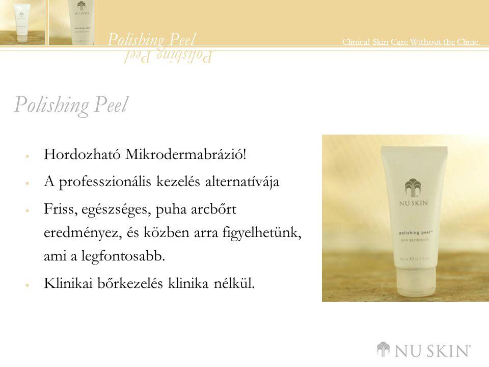 Polishing Peel Clinical Skin Care Without the Clinic. Polishing Peel  Hordozható Mikrodermabrázió!  A professzionális kezelés alternatívája  Friss,