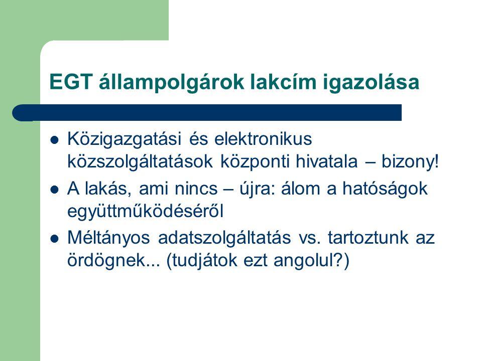 EGT állampolgárok lakcím igazolása  Közigazgatási és elektronikus közszolgáltatások központi hivatala – bizony!  A lakás, ami nincs – újra: álom a h