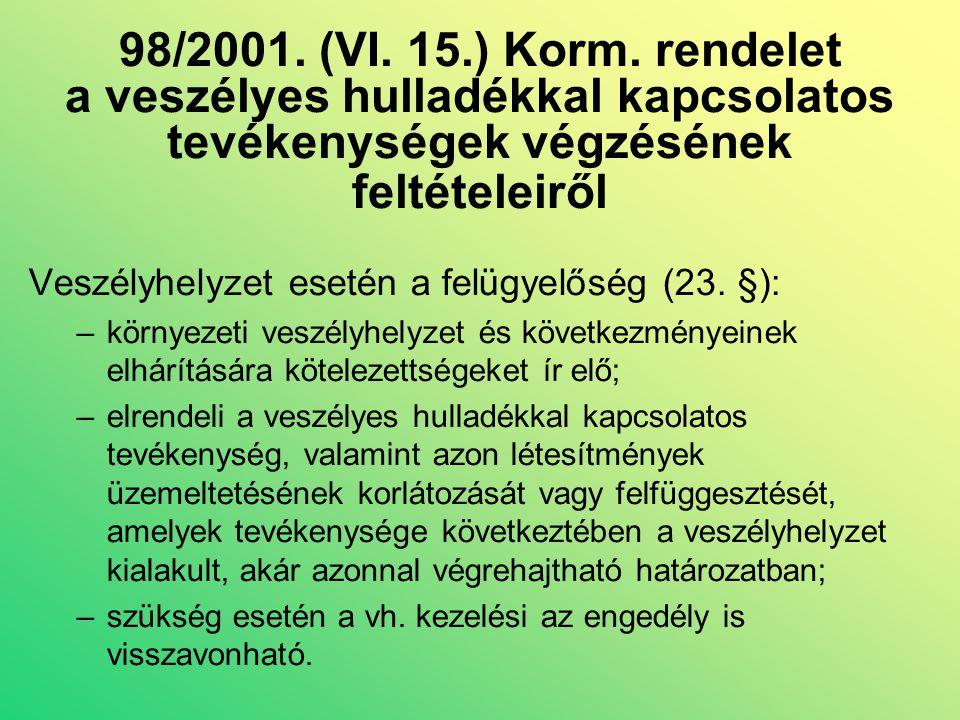 98/2001. (VI. 15.) Korm.