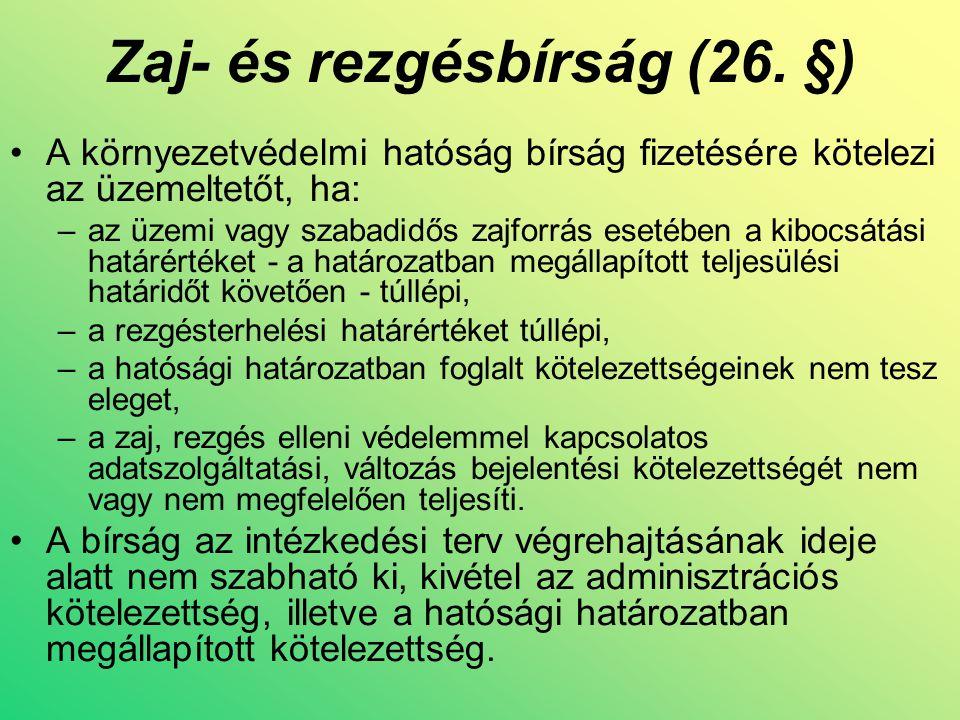 Zaj- és rezgésbírság (26.