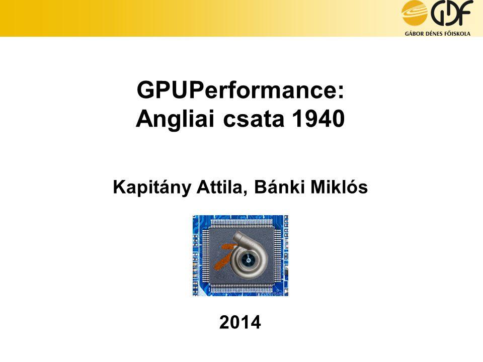 GPUPerformance: Angliai csata 1940 Kapitány Attila, Bánki Miklós 2014