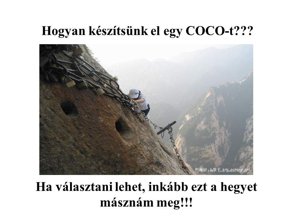 Hogyan készítsünk el egy COCO-t??? Ha választani lehet, inkább ezt a hegyet másznám meg!!!