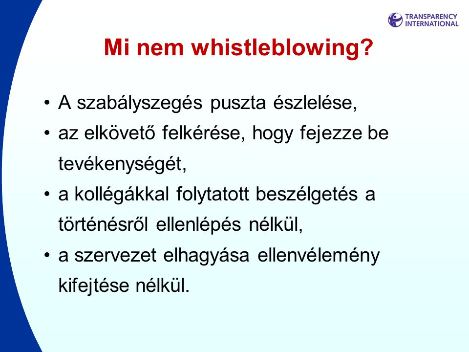Mi nem whistleblowing.