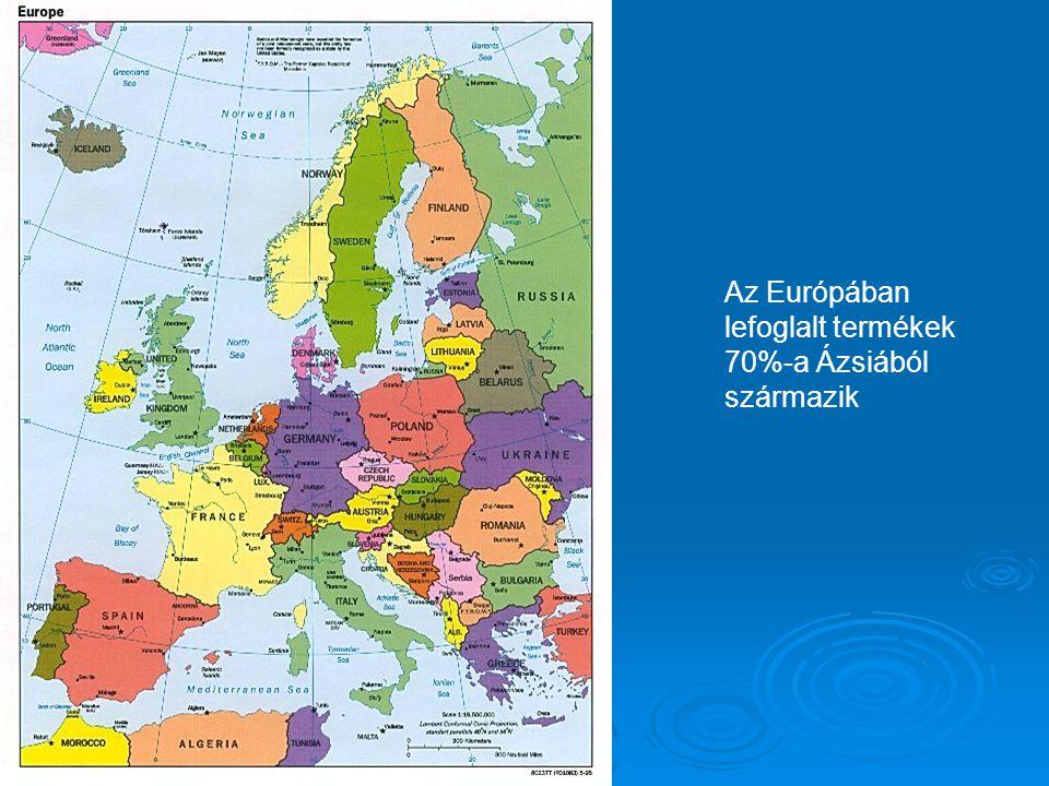 Az Európában lefoglalt termékek 70%-a Ázsiából származik