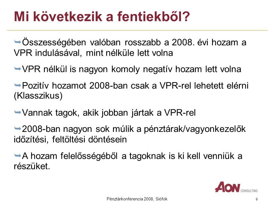 Pénztárkonferencia 2008, Siófok 9 Mi következik a fentiekből.